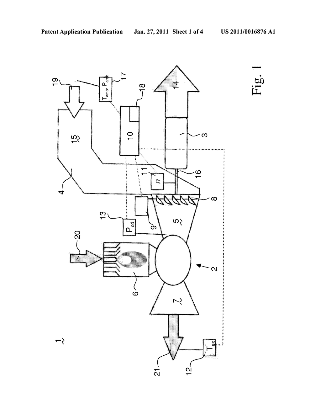 METHOD FOR THE CONTROL OF GAS TURBINE ENGINES - diagram, schematic, and image 02