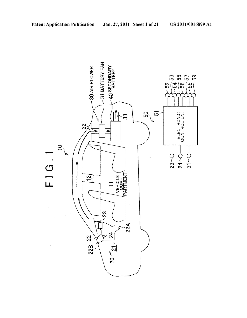 TEMPERATURE CONTROL APPARATUS FOR IN-VEHICLE ELECTRIC STORAGE DEVICE - diagram, schematic, and image 02