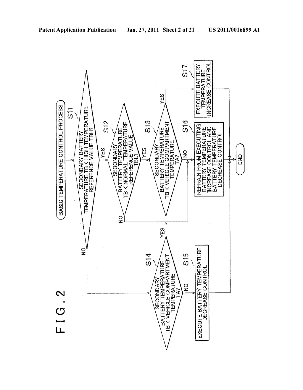 TEMPERATURE CONTROL APPARATUS FOR IN-VEHICLE ELECTRIC STORAGE DEVICE - diagram, schematic, and image 03
