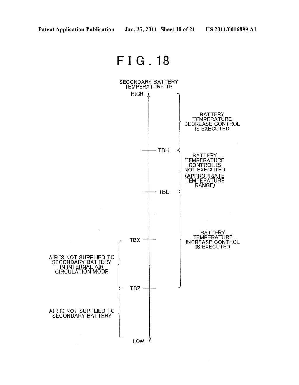 TEMPERATURE CONTROL APPARATUS FOR IN-VEHICLE ELECTRIC STORAGE DEVICE - diagram, schematic, and image 19