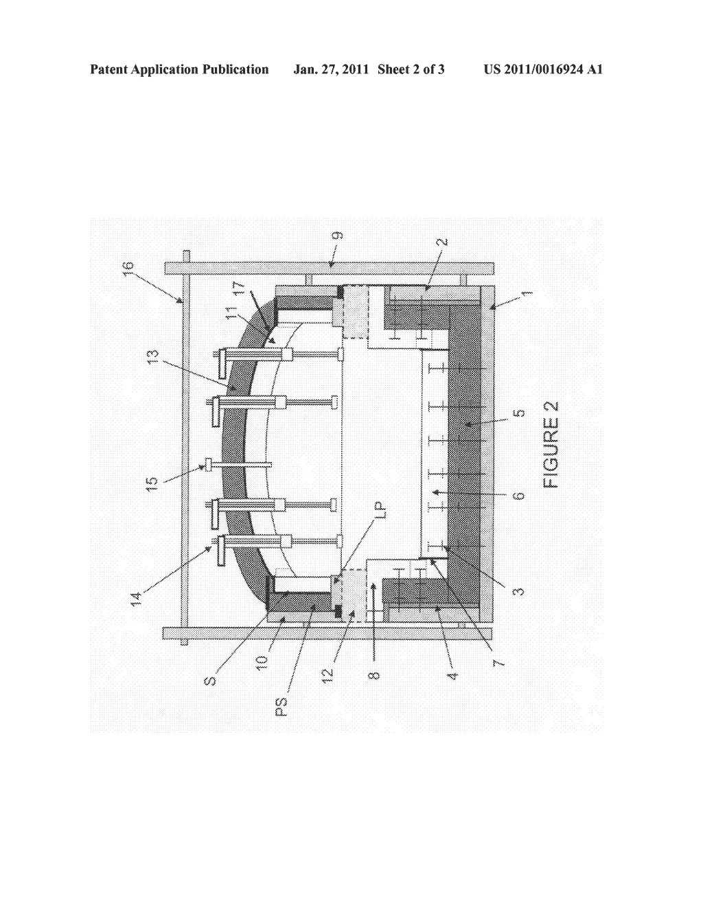 Monolithic float glass forming chamber and method of construction - diagram, schematic, and image 03