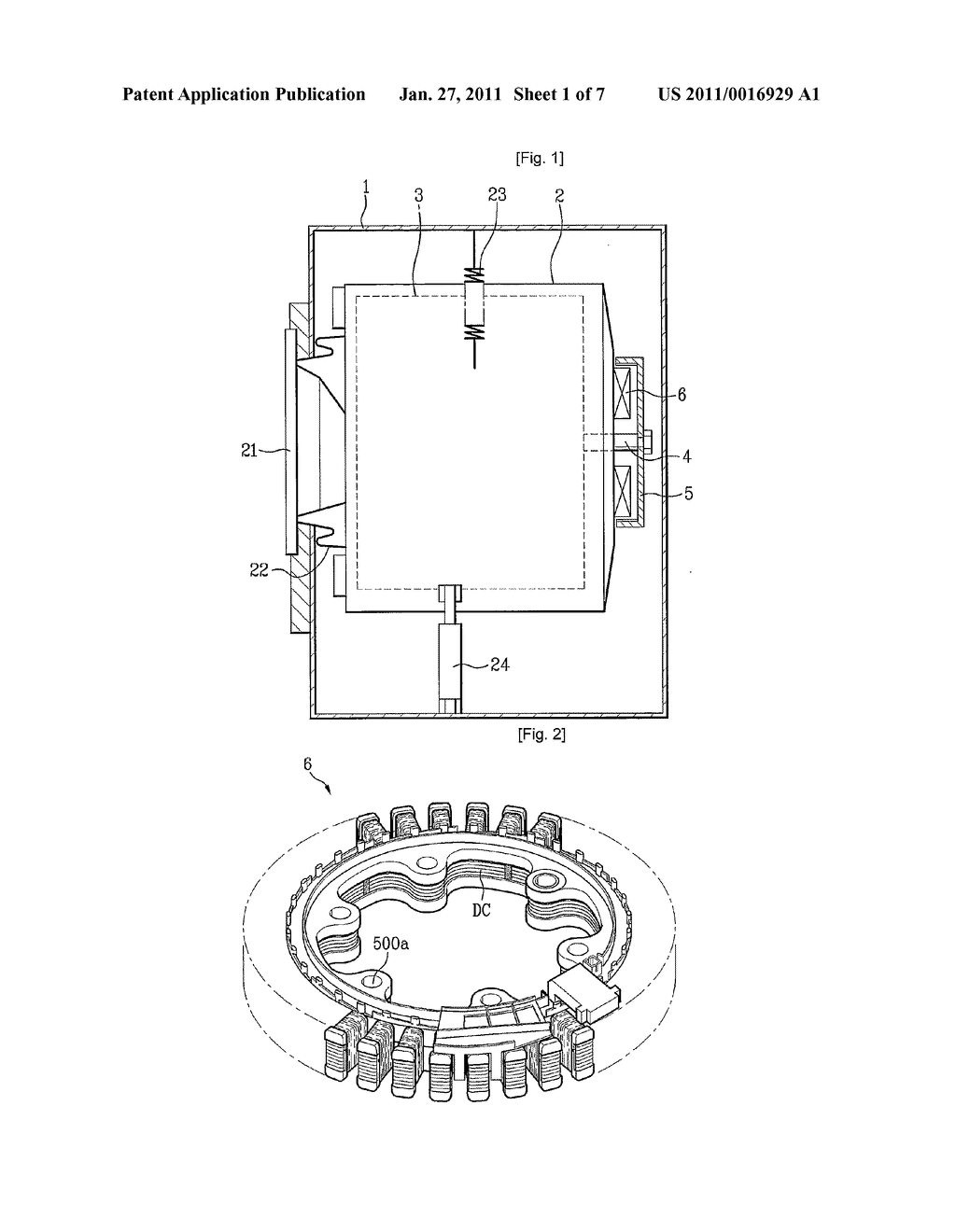 Stator of motor and washing apparatus having the same - diagram, schematic, and image 02
