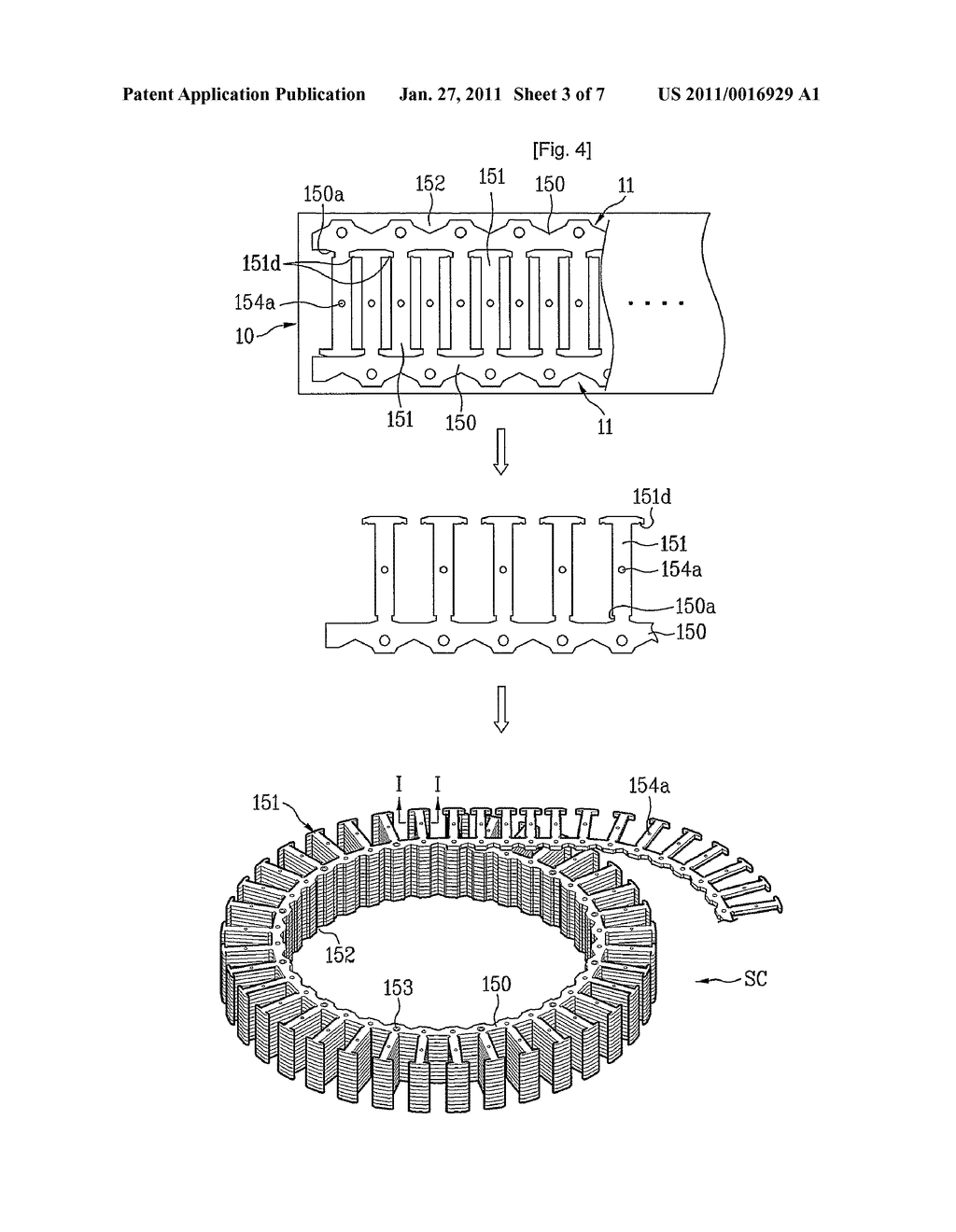 Stator of motor and washing apparatus having the same - diagram, schematic, and image 04