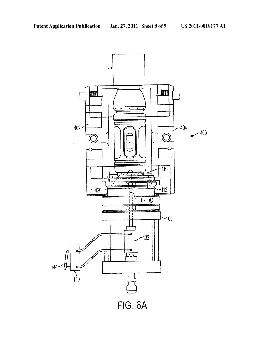 METHOD AND APPARATUS FOR FORMING STRETCH BLOW MOLDED CONTAINERS - diagram, schematic, and image 09