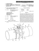 BAND CLAMP WITH EMBOSSED GASKET FOR SLOTTED PIPE LAP JOINTS diagram and image