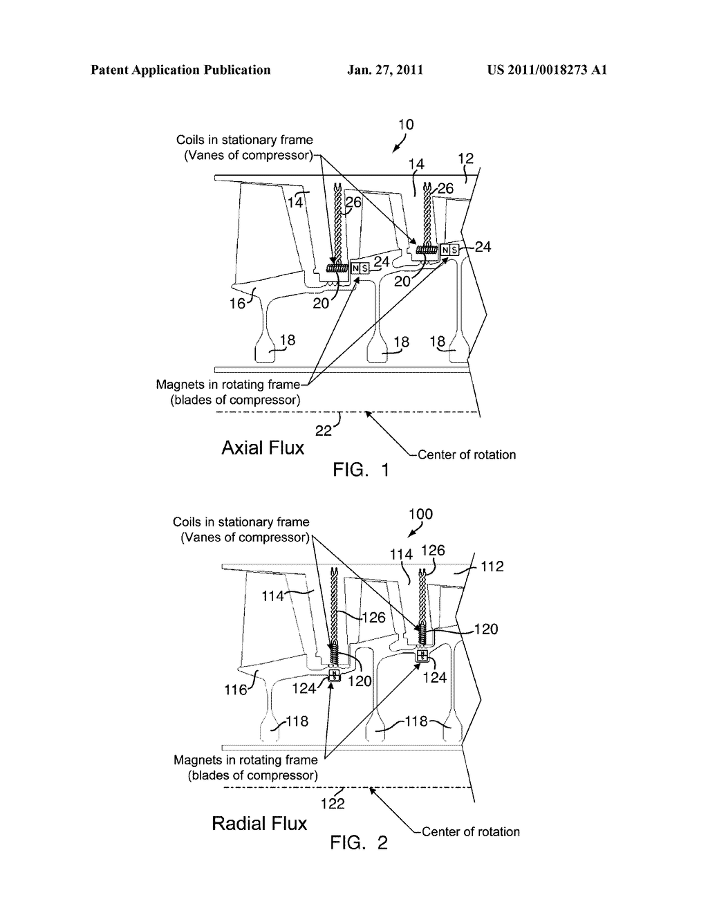STARTER/GENERATOR INTEGRATED INTO COMPRESSOR OF TURBINE ENGINE - diagram, schematic, and image 02