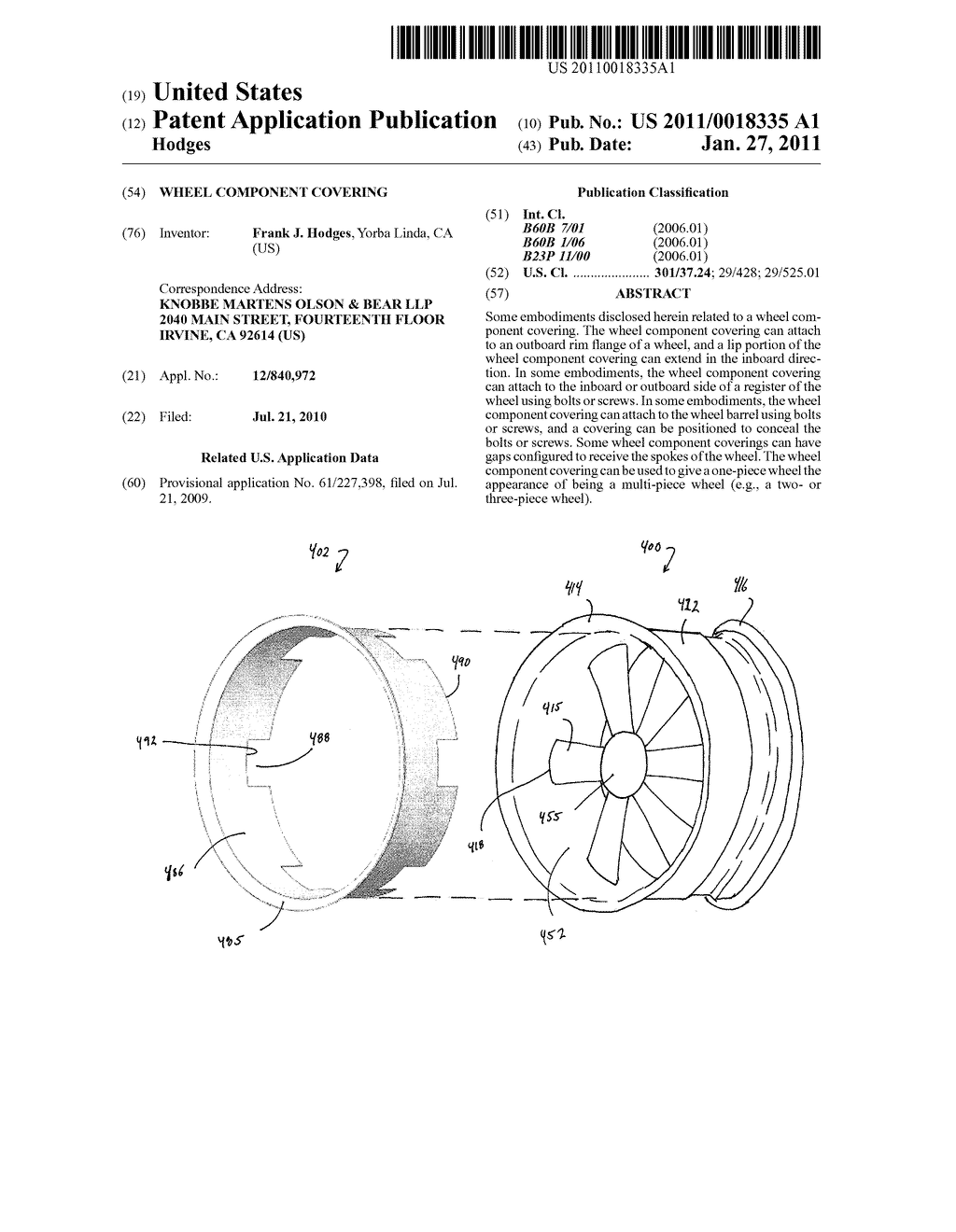 WHEEL COMPONENT COVERING - diagram, schematic, and image 01