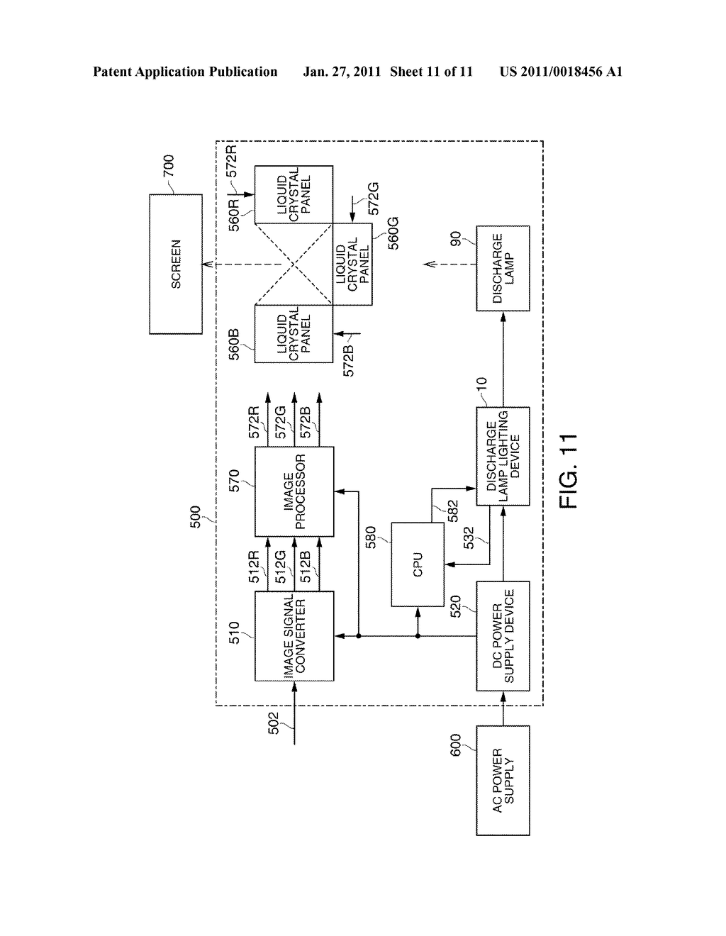DISCHARGE LAMP LIGHTING DEVICE, PROJECTOR, AND DRIVING METHOD OF DISCHARGE LAMP - diagram, schematic, and image 12