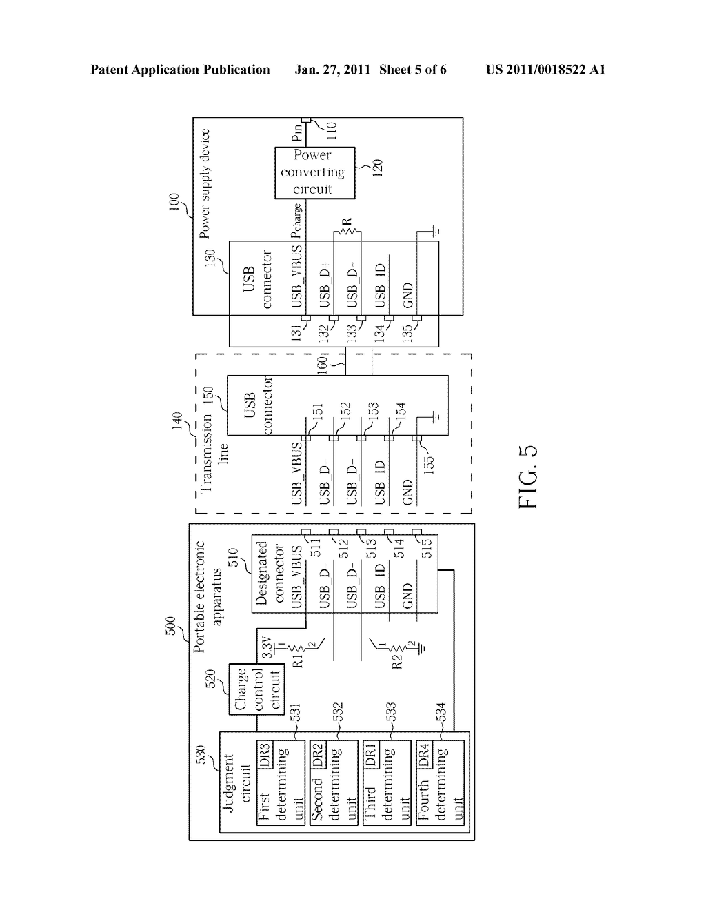 POWER SUPPLY DEVICE, PORTABLE ELECTRONIC APPARATUS AND RELATED METHOD FOR DETERMINING TYPES OF A POWER SUPPLY DEVICE - diagram, schematic, and image 06