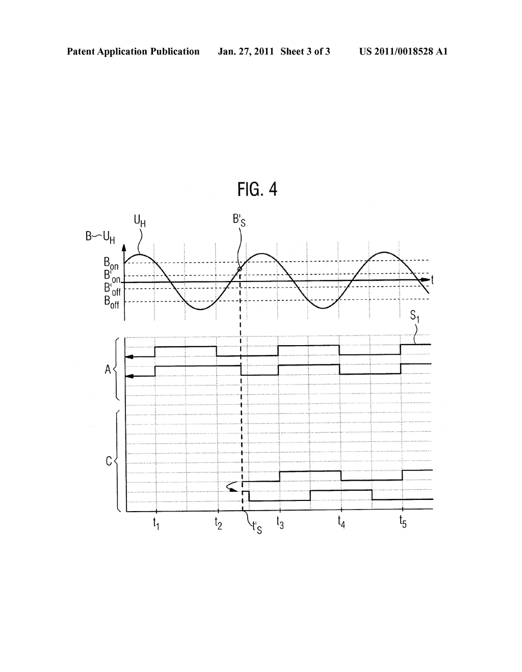 METHOD AND DEVICE FOR DETERMINING THE ACTUATION POSITION OF AN ADJUSTING ELEMENT OF A MOTOR VEHICLE - diagram, schematic, and image 04