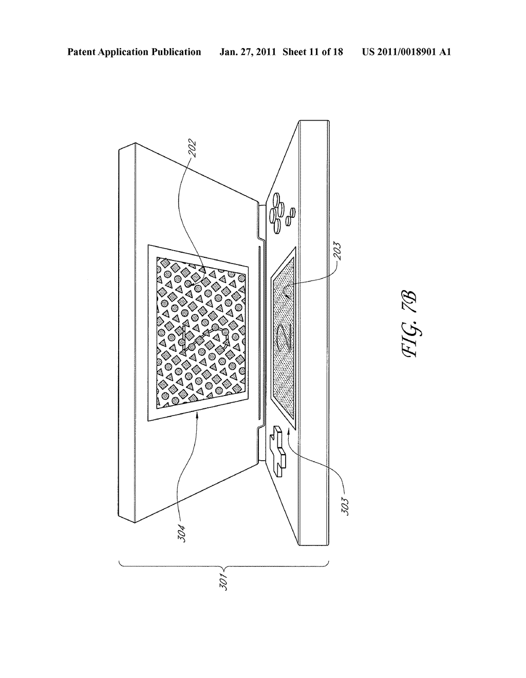 SYSTEM AND METHOD FOR FORMING A COMPOSITE IMAGE IN A PORTABLE COMPUTING DEVICE HAVING A DUAL SCREEN DISPLAY - diagram, schematic, and image 12