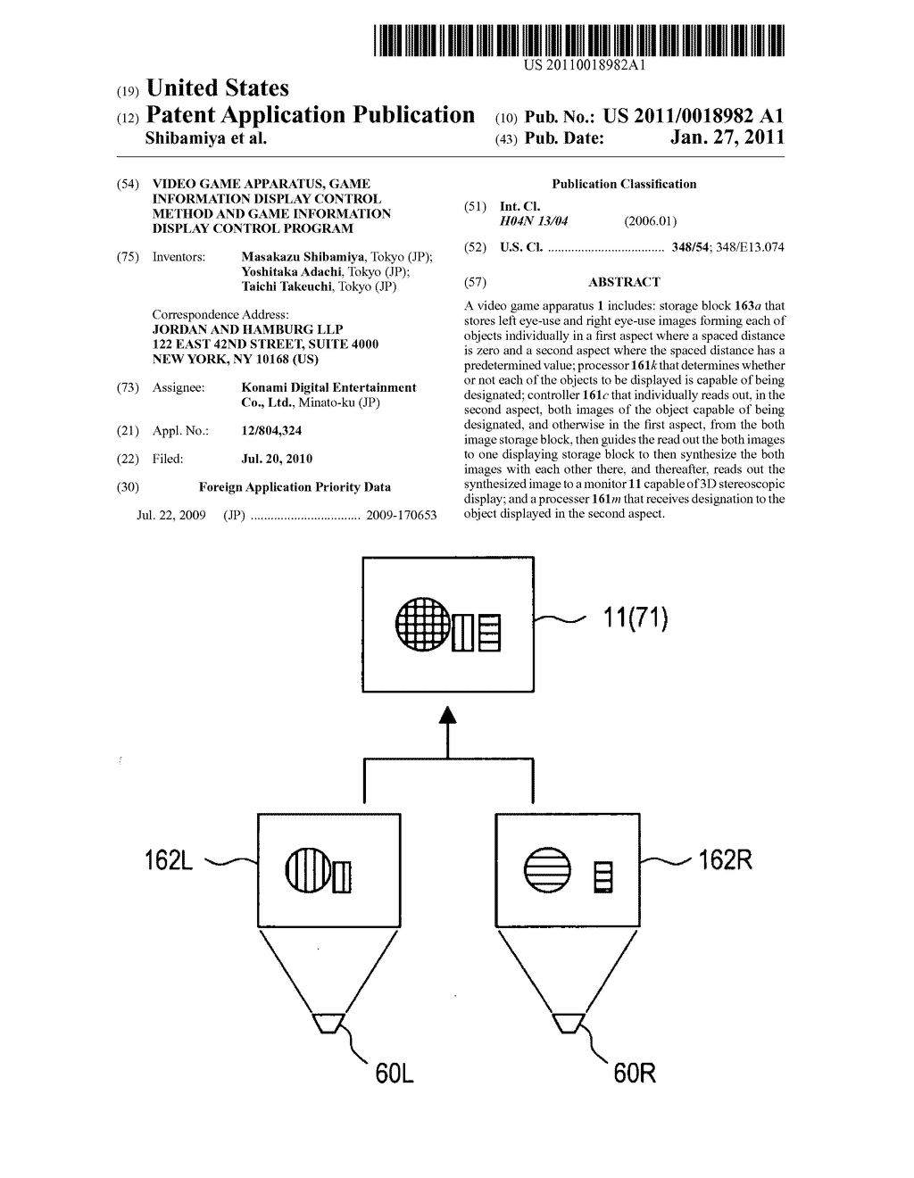Video game apparatus, game information display control method and game information display control program - diagram, schematic, and image 01