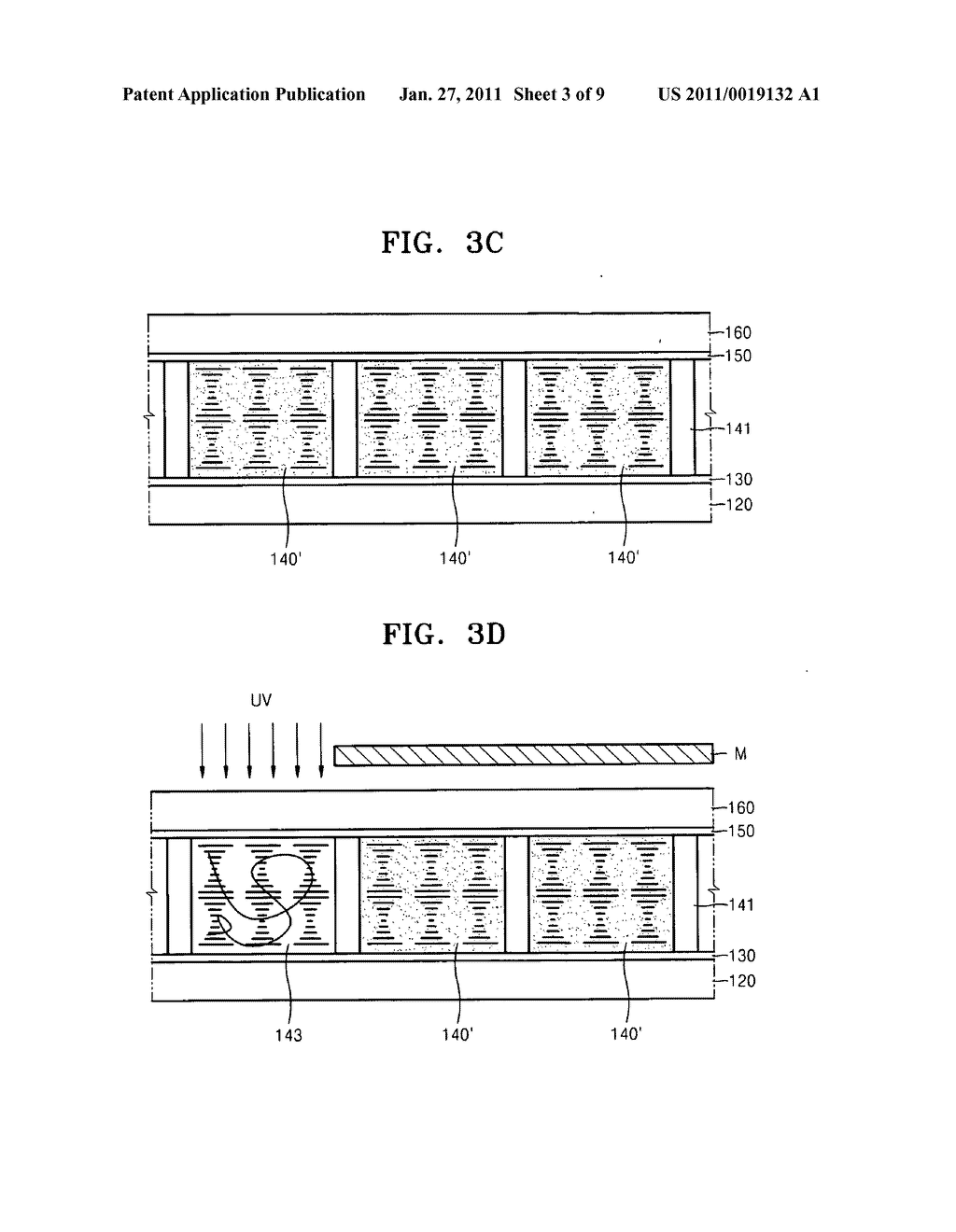 Cholesteric liquid crystal display devices and methods of manufacturing the same - diagram, schematic, and image 04
