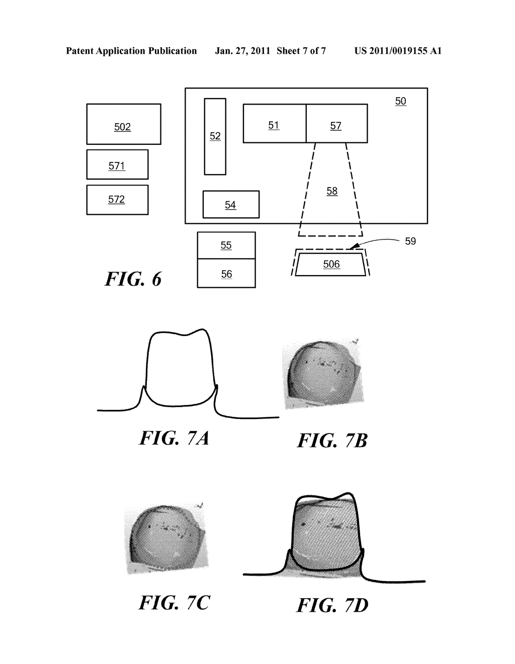 Method and Apparatus for Real-Time Projection onto an Object of Data Obtained from 3-D Measurement - diagram, schematic, and image 08