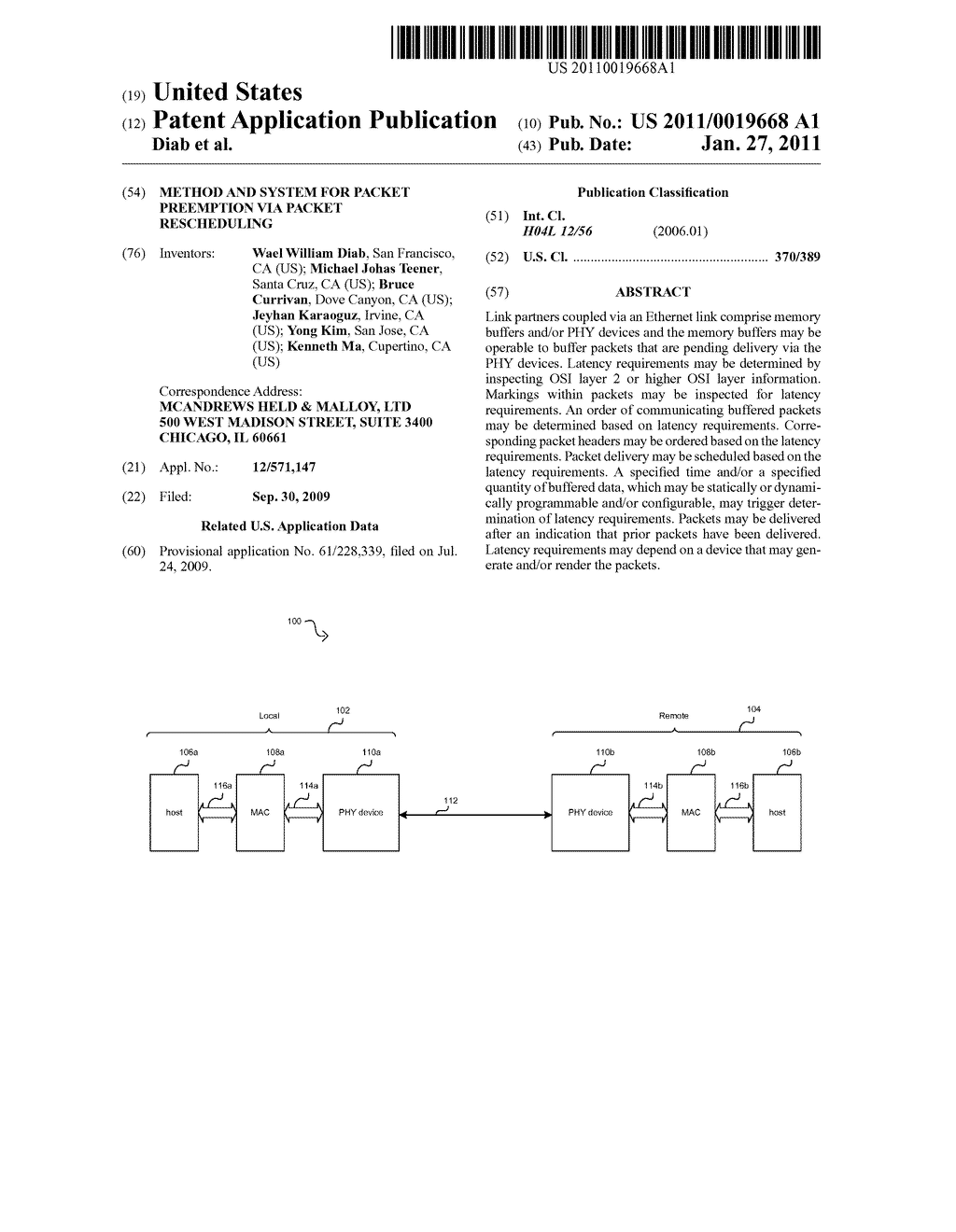 Method And System For Packet Preemption Via Packet Rescheduling - diagram, schematic, and image 01