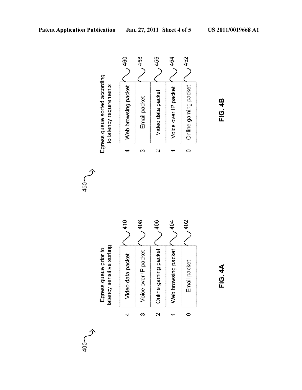Method And System For Packet Preemption Via Packet Rescheduling - diagram, schematic, and image 05