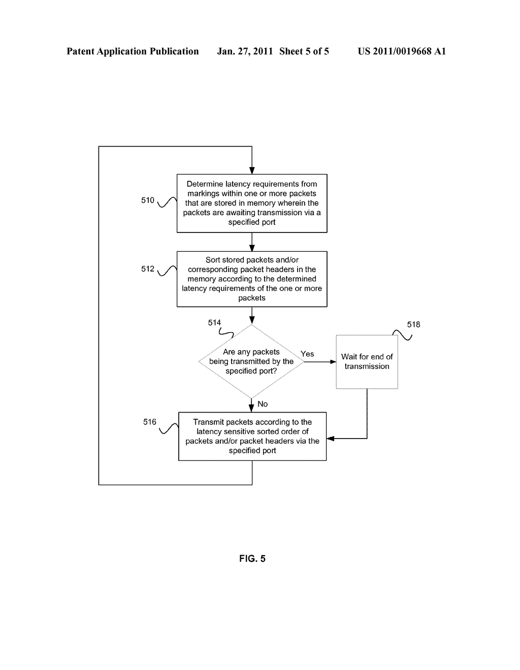 Method And System For Packet Preemption Via Packet Rescheduling - diagram, schematic, and image 06
