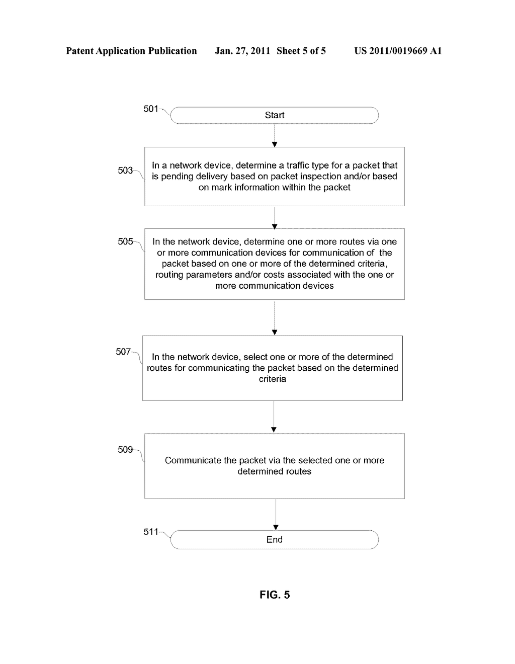 Method And System For Dynamic Routing And/Or Switching In A Network - diagram, schematic, and image 06