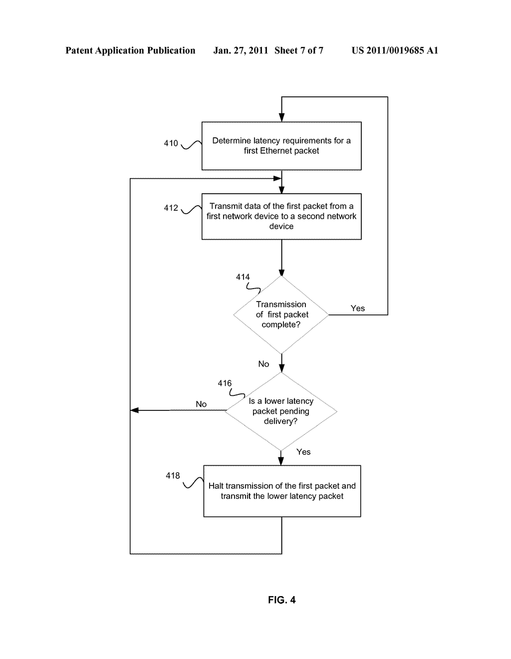 METHOD AND SYSTEM FOR PACKET PREEMPTION FOR LOW LATENCY - diagram, schematic, and image 08