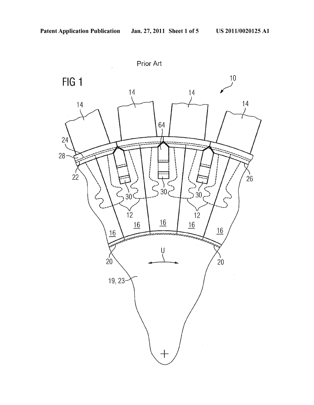 Arrangement for axially securing blades in a rotor of a gas turbine - diagram, schematic, and image 02