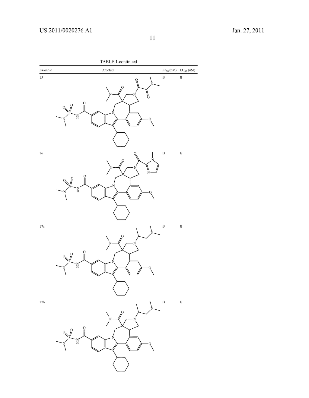 Pyrrolidine Fused Indolobenzadiazepine HCV NS5B Inhibitors - diagram, schematic, and image 12
