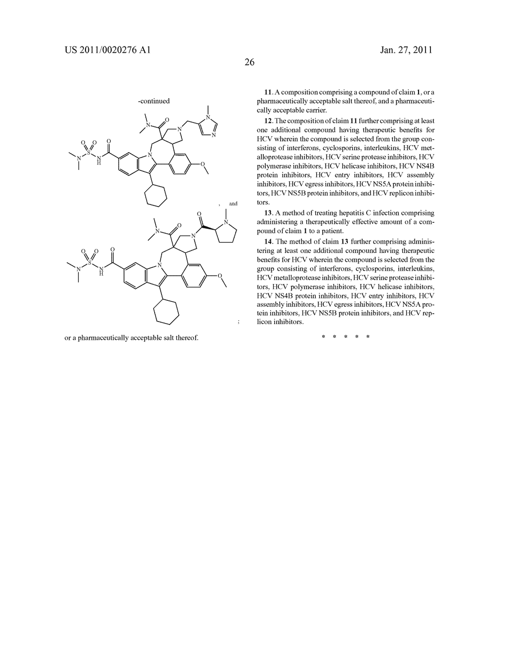 Pyrrolidine Fused Indolobenzadiazepine HCV NS5B Inhibitors - diagram, schematic, and image 27