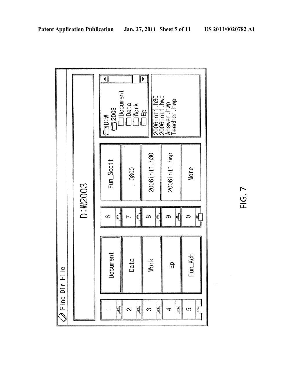 METHOD OF CONTROLLING COMPUTER PROGRAM AND SEARCHING FOLD AND FILE USING OBJECT-ORIENTED BUTTON, CONTROL AND PRESENTATION SYSTEM USING THE SAME AND REMOTE CONTROLLER USING THE SAME - diagram, schematic, and image 06