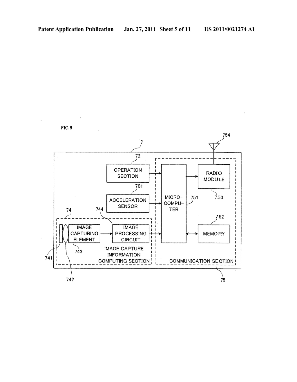 Game apparatus and recording medium recording game program for displaying a motion matching a player's intention when moving an input device - diagram, schematic, and image 06