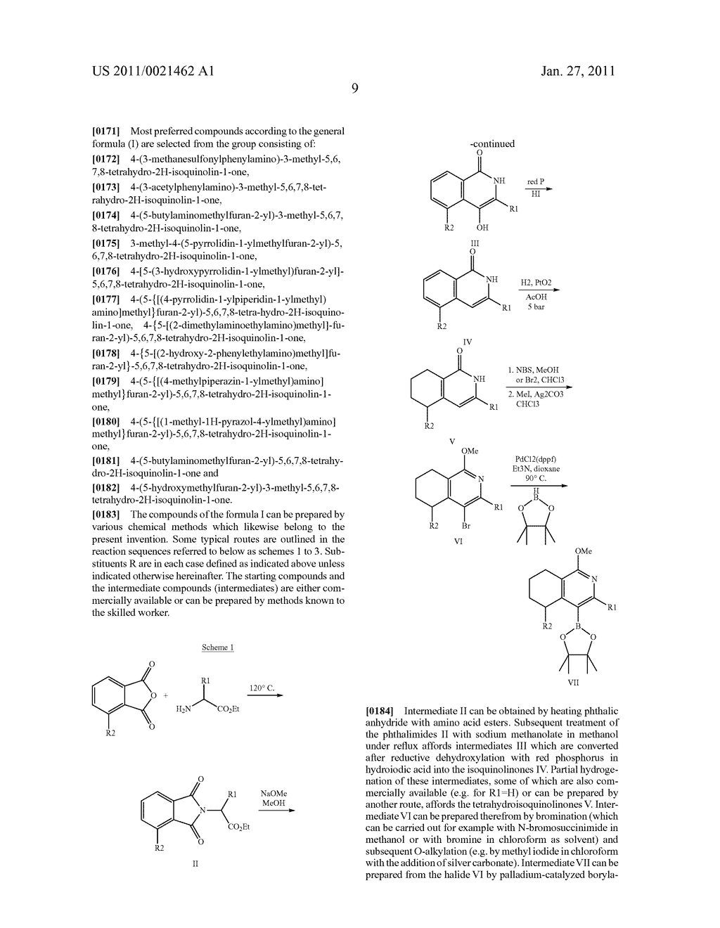 SUBSTITUTED TETRAHYDRO-2H-ISOQUINOLIN-1-ONE DERIVATIVES, AND METHODS FOR THE PRODUCTION AND USE THEREOF - diagram, schematic, and image 10
