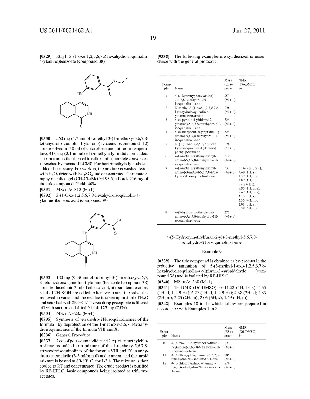 SUBSTITUTED TETRAHYDRO-2H-ISOQUINOLIN-1-ONE DERIVATIVES, AND METHODS FOR THE PRODUCTION AND USE THEREOF - diagram, schematic, and image 20