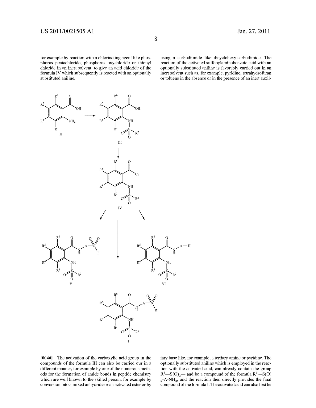 Use of sulfonyl-substituted 2-sulfonylaminobenzoic acid N-phenylamides in the treatment of pain - diagram, schematic, and image 11