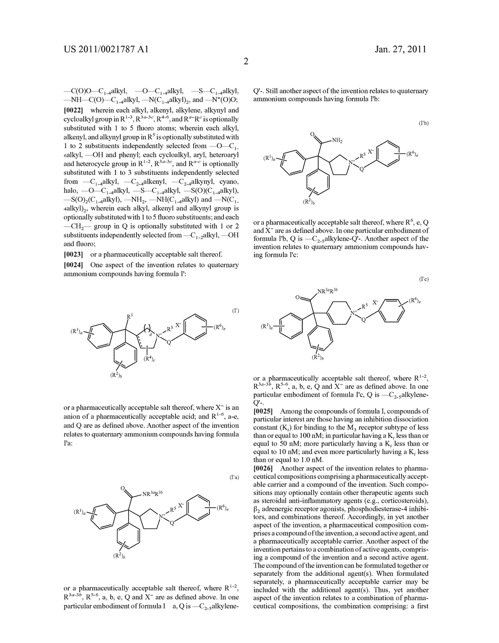 QUATERNARY AMMONIUM DIPHENYLMETHYL COMPOUNDS USEFUL AS MUSCARINIC RECEPTOR ANTAGONISTS - diagram, schematic, and image 03
