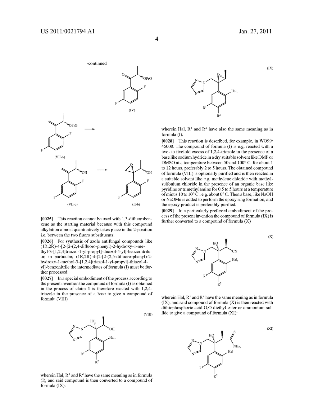 Process for the manufacture of epoxy triazole derivatives - diagram, schematic, and image 05