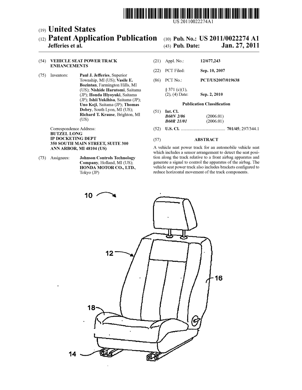 VEHICLE SEAT POWER TRACK ENHANCEMENTS - diagram, schematic, and image 01