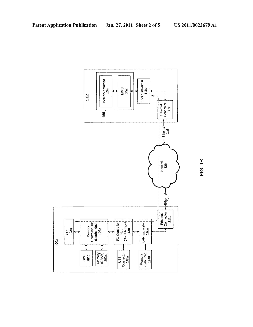 METHOD AND SYSTEM FOR UTILIZING NATIVE ETHERNET AS A VIRTUAL MEMORY INTERCONNECT - diagram, schematic, and image 03