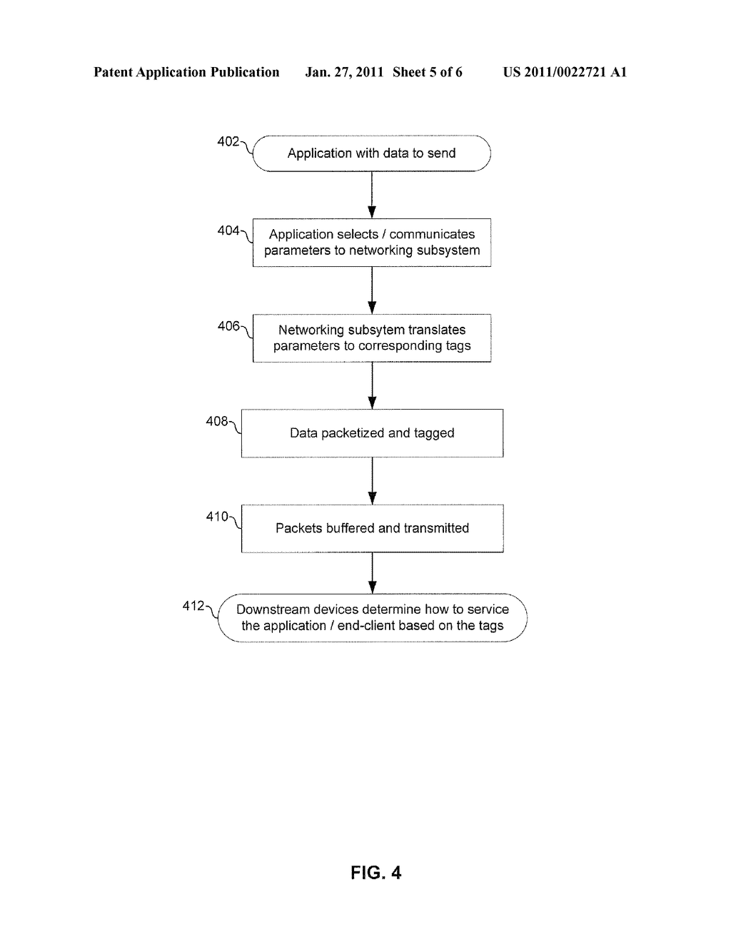 METHOD AND SYSTEM FOR PACKETIZING DATA FOR SERVICING TRAFFIC END-TO-END - diagram, schematic, and image 06