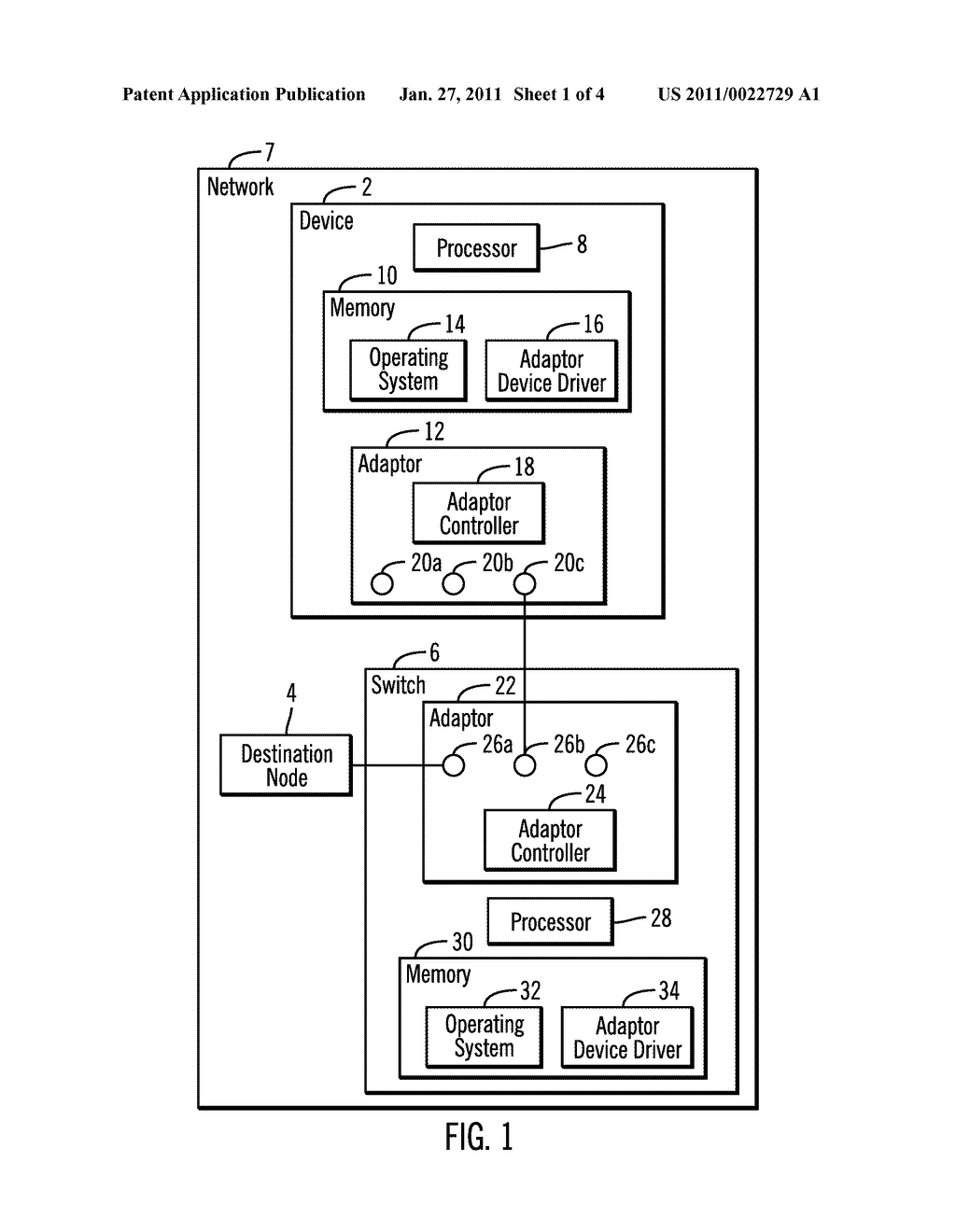 SUPPORTING NON-DELIVERY NOTIFICATION BETWEEN A SWITCH AND DEVICE IN A NETWORK - diagram, schematic, and image 02