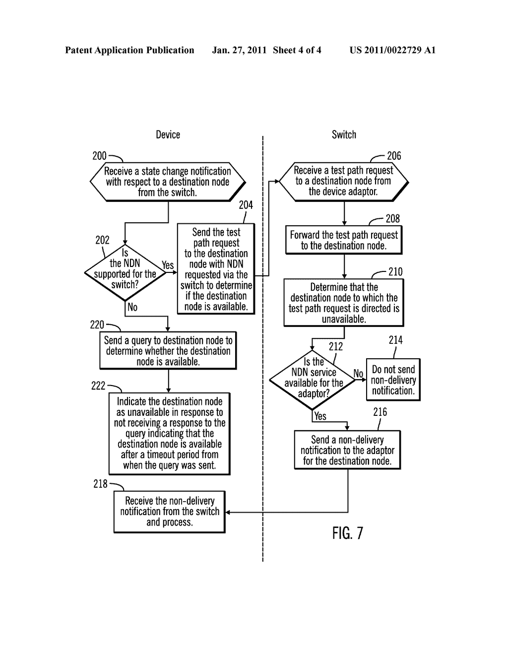 SUPPORTING NON-DELIVERY NOTIFICATION BETWEEN A SWITCH AND DEVICE IN A NETWORK - diagram, schematic, and image 05