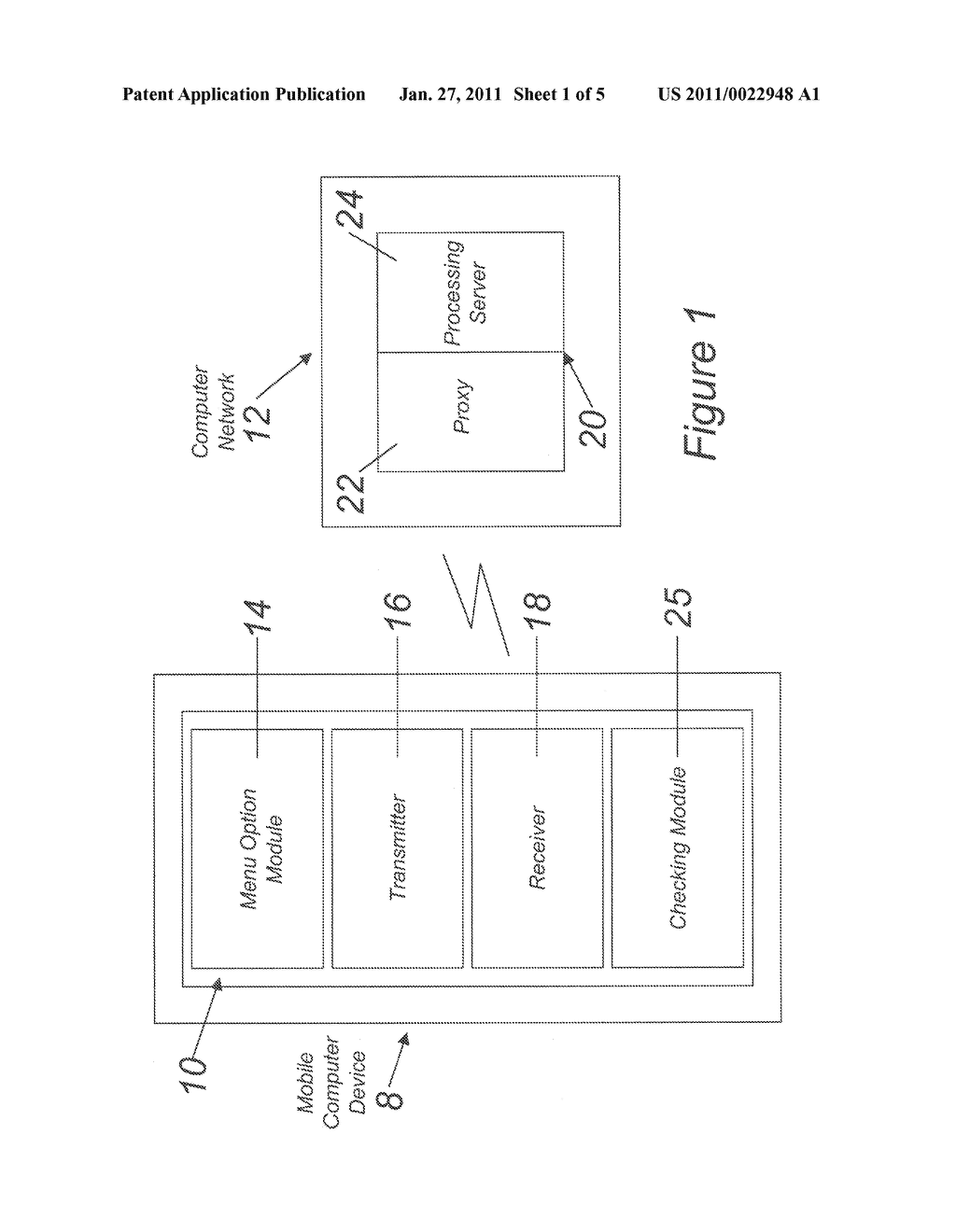 METHOD AND SYSTEM FOR PROCESSING A MESSAGE IN A MOBILE COMPUTER DEVICE - diagram, schematic, and image 02