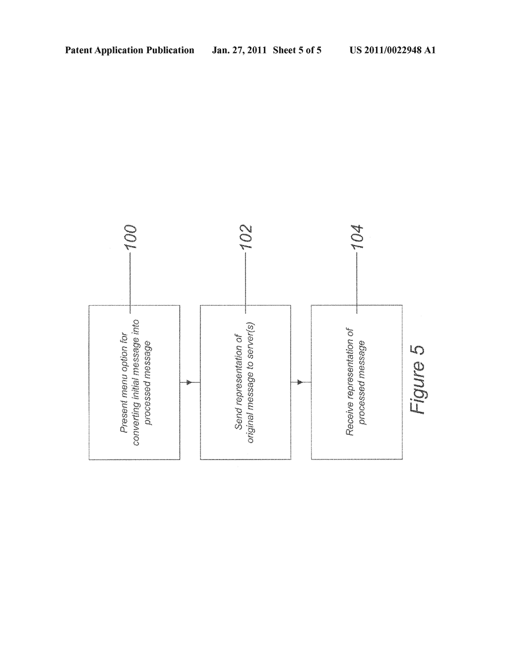 METHOD AND SYSTEM FOR PROCESSING A MESSAGE IN A MOBILE COMPUTER DEVICE - diagram, schematic, and image 06