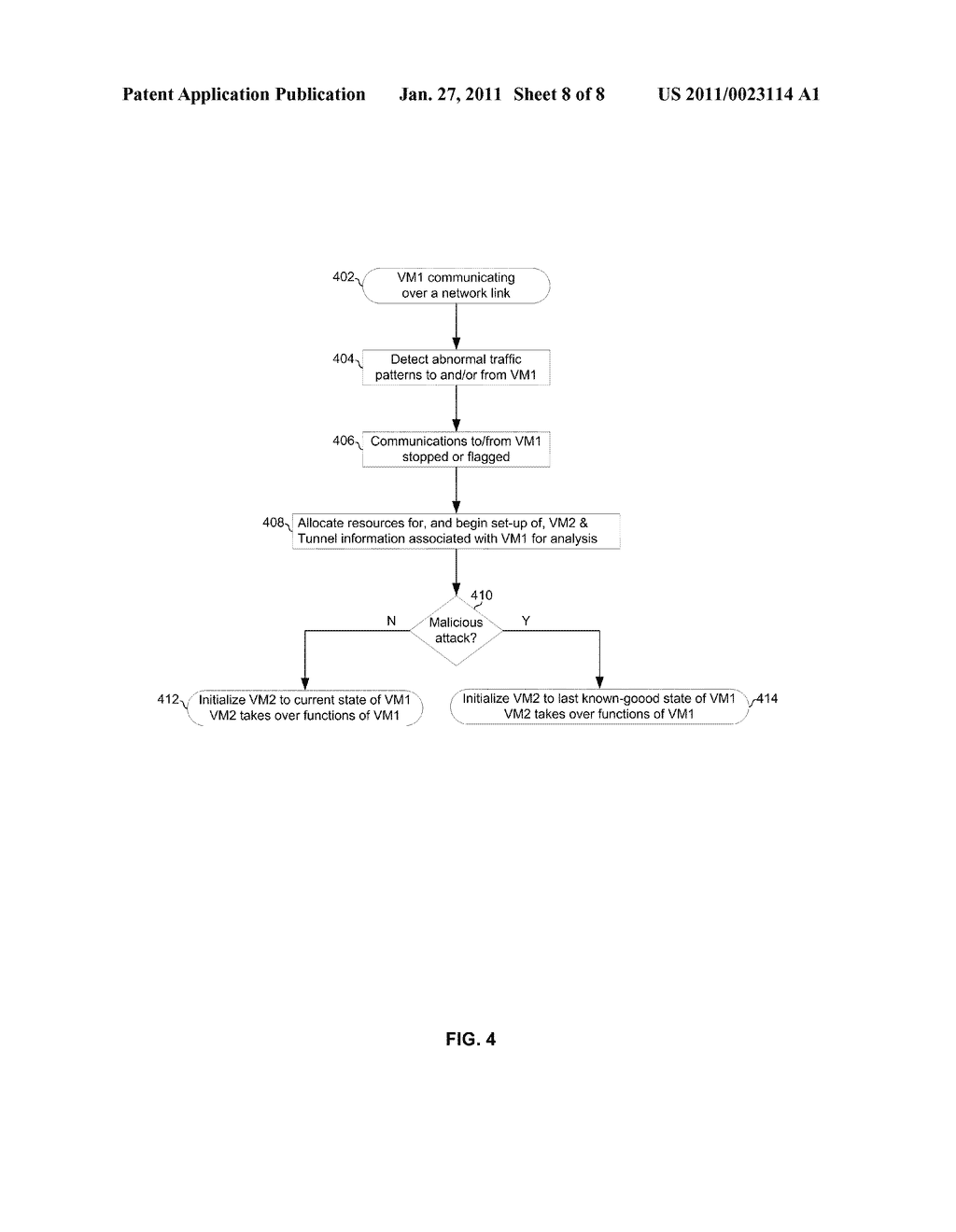 Method and System For Traffic Management Via Virtual Machine Migration - diagram, schematic, and image 09