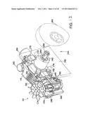 MOUNTING OF HYDROSTATIC TRANSMISSION FOR RIDING LAWN MOWER diagram and image