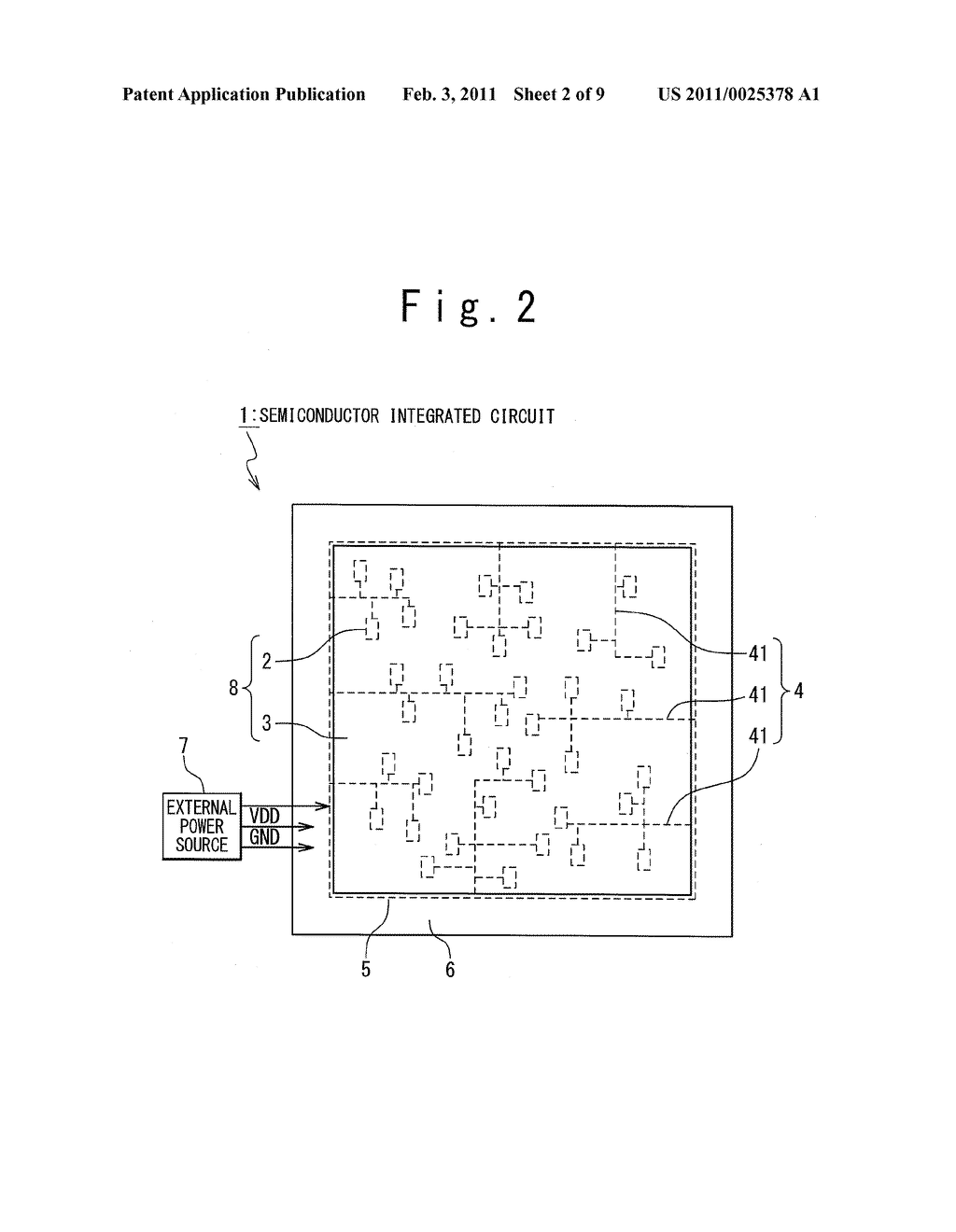 SEMICONDUCTOR INTEGRATED CIRCUIT AND LAYOUT METHOD THEREOF - diagram, schematic, and image 03