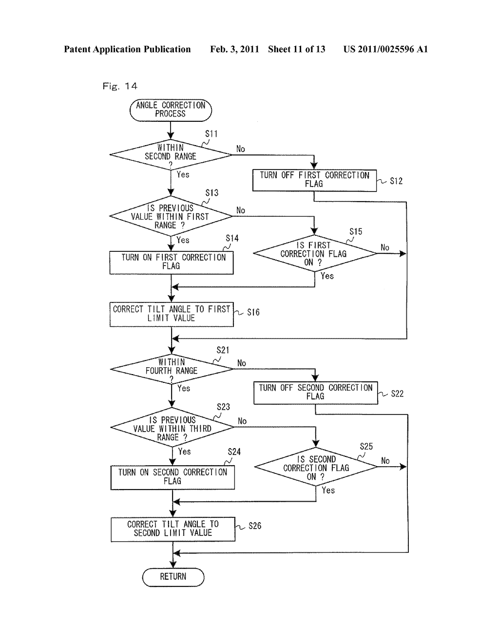 STORAGE MEDIUM HAVING GAME PROGRAM STORED THEREIN, GAME APPARATUS, AND TILT ANGLE CORRECTION METHOD - diagram, schematic, and image 12