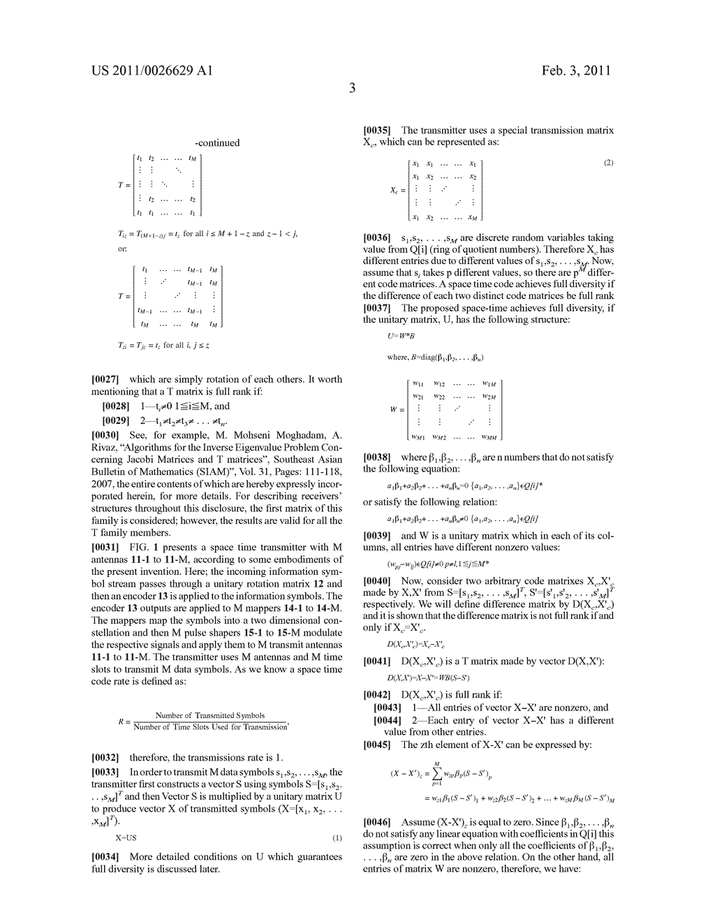 SYSTEM AND METHOD FOR ENCODING AND DECODING OF SPACE-TIME BLOCK CODES IN DATA COMMUNICATION - diagram, schematic, and image 12