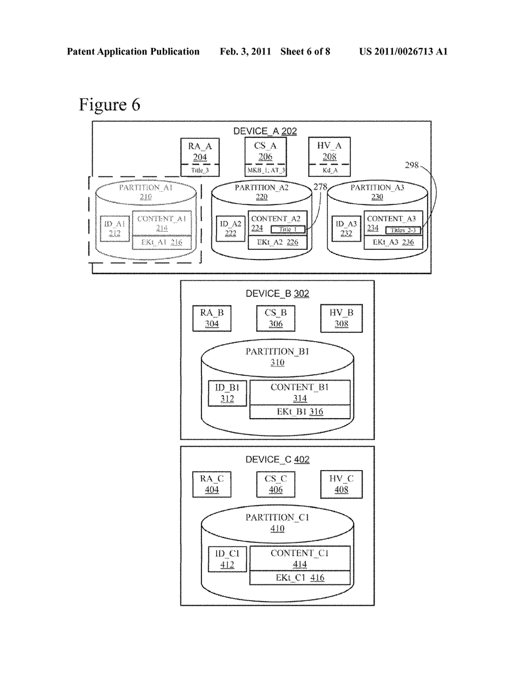 Efficient Rebinding of Partitioned Content Encrypted Using Broadcast Encryption - diagram, schematic, and image 07