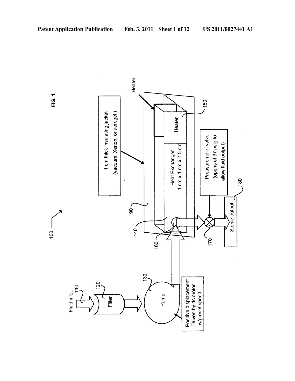 Method for heating or sterilizing a liquid stream - diagram, schematic, and image 02
