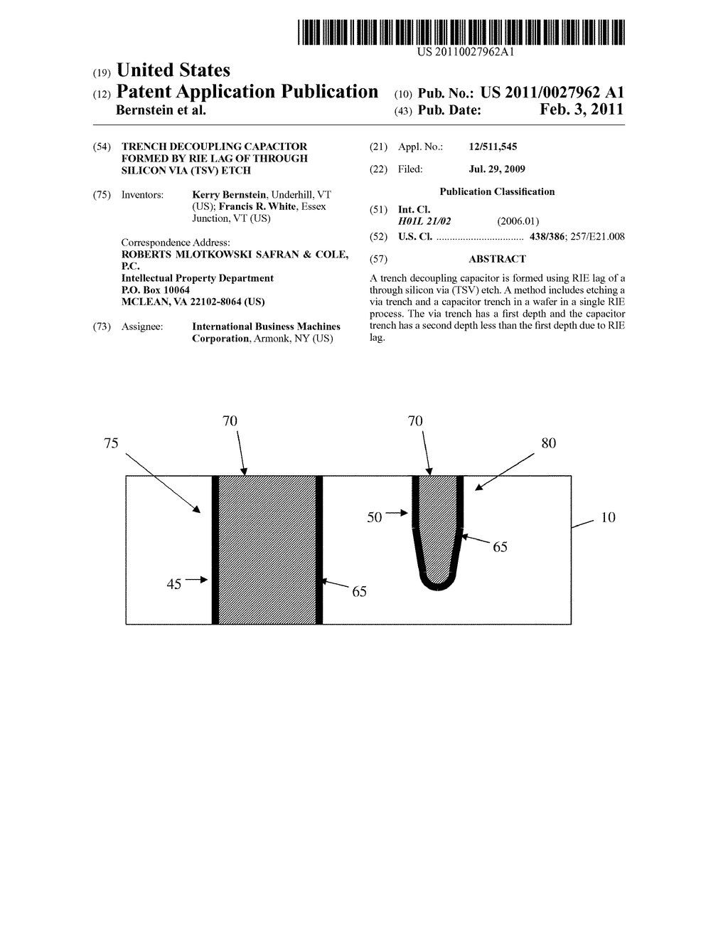 Trench Decoupling Capacitor Formed By Rie Lag Of Through Silicon Via Schematic Diagram Tsv Etch And Image 01