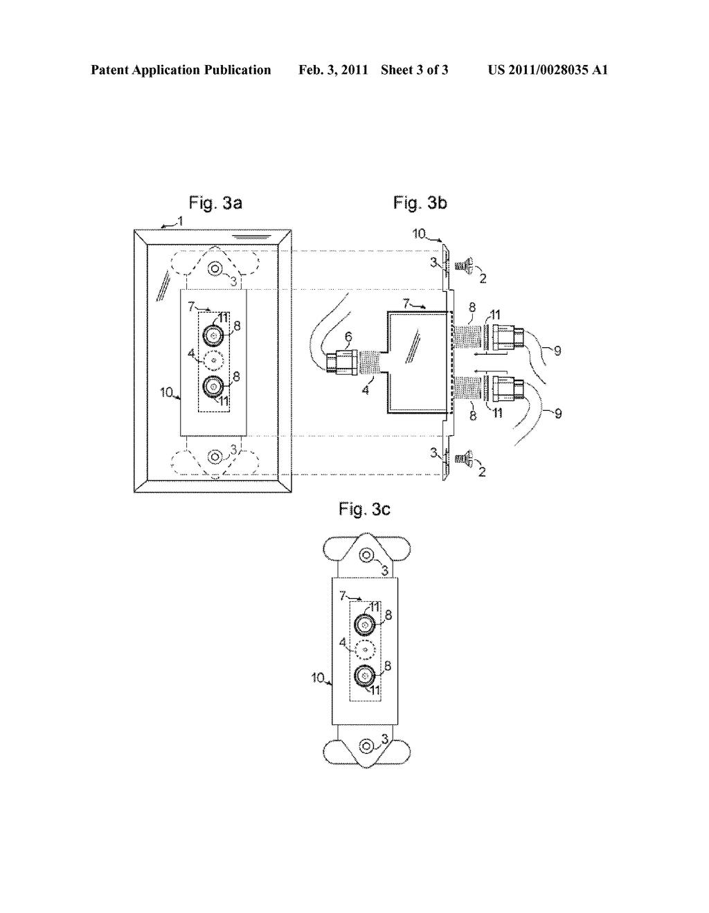 Tv Signal Splitter Wiring Diagram Data Schema Traffic Light Schematic Wall Plate Having Integrated Catv Photocell