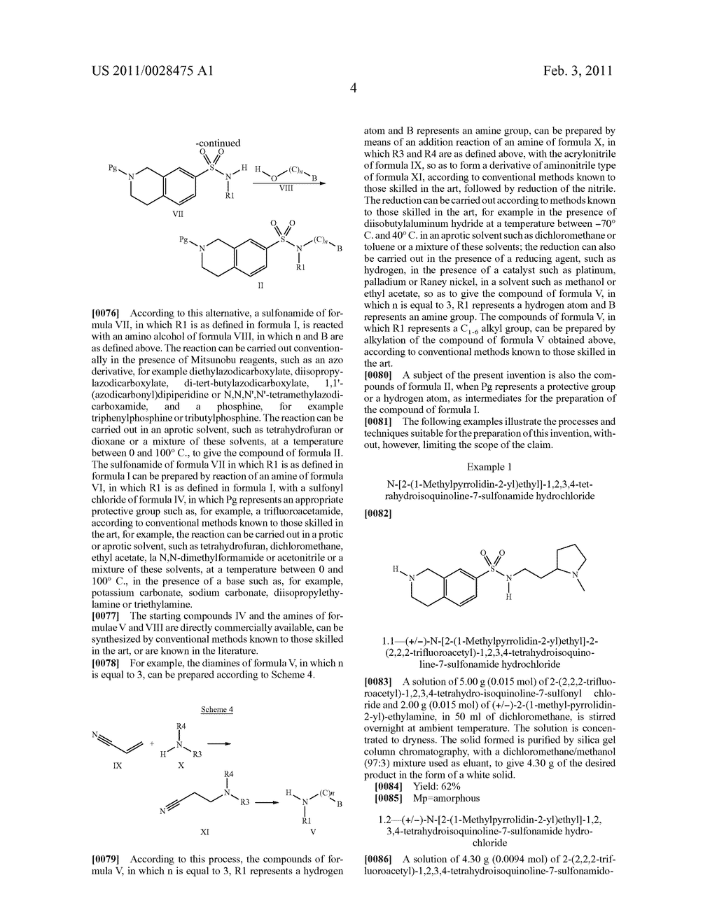 TETRAHYDROISOQUINOLINE SULFONAMIDE DERIVATIVES, THE PREPARATION THEREOF, AND THE USE OF THE SAME IN THERAPEUTICS - diagram, schematic, and image 05
